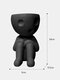 1 PC Resin Abstract Simple Cute Humanoid Flower Vase Decoration Tuck Knees And Sit Posture Character Desktop Living Room Bedroom Ornament Decoration - #02