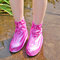 Mujer Waterpoof Antideslizante Lluvia Botas Cubrezapatos - Rosado