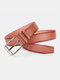 Men Faux Leather Belt Casual Fashion Business All-match Leather Belt - #06