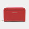 Women PU Leather 8 Card Slots Photo Card Phone Bag Money Clip Wallet Purse - Red