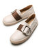 Casual Soft Comfortable Buckle Design Apricot Flats For Women - Apricot