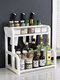 Kitchen Shelf Double-layer Spice Rack With Five-grid Seasoning Box Multi-function Rack With Cutting Board Rack And Knife Rack - #04
