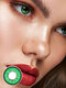 2Pcs Love Words Cosplay Non-prescription Yearly Colored Contact Lenses - Green