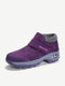 Women Stitching Cushion Ankle Walking Athletic Casual Shoes