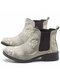 Women Retro Floral Embroidery Comfy Wearable Chelsea Ankle Boots - Beige
