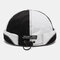 Men & Women Breathable Mesh Skull Cap Brimless Hat With Buttons Adjustable Elastic Band - Black