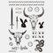 Halloween Face Temporary Tattoo Stickers Waterproof Sweatproof Breathable Art Body Fake Tattoo Transfer Paper - 01