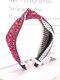 Vintage Ethnic Argyle Pattern Tie Lace Cloth Headband - Wine Red