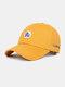 Unisex Cotton Embroidery Animal Pattern Summer Casual Sunshade Fashion Baseball Hat - Yellow