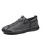 Men Brief Comfy Soft Hand Stitching Casual Outdoor Driving Shoes - Gray