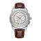 Texture Three Small Dial 24h Pantalla Semana Pantalla Reloj de cuarzo de moda para hombre - 4