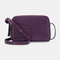 Women Multifunction 6 Card Slots Phone Bag Crossbody Bag Shoulder Bag - Purple