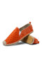 Special Bark PU Espadrillas Fisherman Shoes With Rubber Sole For Women - Orange