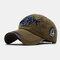 Old Washed Cowboy Baseball Cap 3D Letters Three-Dimensional Embroidered Sun Hat - Green