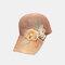 帽子の女性の屋外のアップリケの野球帽の夏の野生の通気性のある空の帽子 - #02