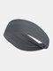 Unisex Sport Cycling Sweat Absorption Seamless Breathable Headband Headscarf - Dark Gray