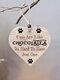 Placa de madeira para presente pendurada com chip de Natal de madeira Pingente Coração Decoração de garrafa de vinho em forma de etiquetas para casa - #10