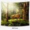 Осень Trees Павлин Лось Лесной Печати Стене Висит Tapestey Главная Декоративный Гобелен