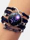 Vintage Twelve Constellation Women Bracelet LOVE Letter Multilayer Bracelet - Libra
