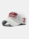 Unisex Cotton Letters Pattern Embroidery Patch  All-match Sunscreen Baseball Caps - White