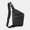 Men Oxford Luminous Multi-pockets Large Capacity Anti-theft Waterproof Crossbody Bag Chest Bag Sling Bag - Black1