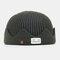 Men & Women Knitted Hat Autumn And Winter Woolen Melon Leather Hat Warm Men And Women Hats Skull Caps - Green
