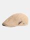 पुरुषों कपास सादा रंग समायोज्य आरामदायक फ्लैट टोपी आगे टोपी टोपी टोपी - हाकी