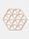 1PC Silicone Placemat Folding Hollow Dining Table Mats No-slip Insulation Pot Holder Mug Cup Drink Pad Kitchen Accessories - #12