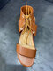 Women Fashion Comfy Ankle Strap Lace Up Chunky Heel Sandals - Brown