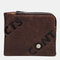 Men Genuine Leather Anti-theft RFID Photo Case Coin Purse 4 Card Case Wallet - Coffee