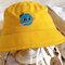 Detachable Face Screen Children's Sun Hat Windproof Transparent Fisherman Hat Dust Cap - Yellow