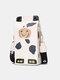 Damen PU Leder Cute Cow Tiger Umhängetasche Casual Phone Geldbeutel