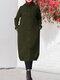 Куртка с длинным рукавом с капюшоном на пуговицах Толстовка с капюшоном - Армейский Зеленый