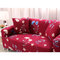 Red Kimono 1/3 Seater Home Soft Elastic Sofa Cover Easy Stretch Slipcover Protector Couch - Three-seat