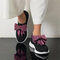 Women Butterfly Knot Decor Comfy Soft Wearable Casual Sneakers - Pink