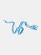 Alloy Vintage Snake-shape Animal Ear Clip Earrings - Blue