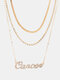 Collar Vintage Doce Constelaciones Mujer Collar de diamantes con incrustaciones de múltiples capas Colgante - Cáncer