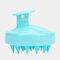 Hair Scalp Massager Shampoo Brush Head Scalp Massage Brush Remove Dandruff Promote Hair Growth Shampoo Brush - Blue