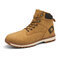 Men Outdoor Slip Resistant Lace Up Work Style Ankle Boots - Brown