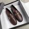 Женские туфли Платье Metal Decor Slip On Flats Loafers - #01
