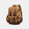 Мужской Натуральная Кожа Водонепроницаемы Износостойкий На открытом воздухе Дорожный рюкзак - Хаки