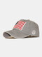 Men Washed Cotton Embroidery Baseball Cap Outdoor Sunshade Adjustable Hats - Grey