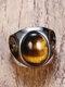 سبيكة خمر خاتم الخاتم القيل والقال خاتم أحجار كريمة بيضاوية الشكل - بنى
