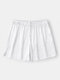 Casual Lightweight Pure Color Mini Homewear Shorts For Men - White