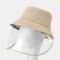 COLLROWN Adjustable Sun Hat With Large Eaves Anti-fog Removable Sun Visor - Khaki