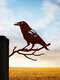 23-Types Metal Garden Tree Insert Decor Hummingbird Owl Simulation Animal Art Ornament - #17