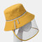 COLLROWN Removable Sun Visor Fisherman Hat Anti-droplet Cap Cover Face  - Yellow