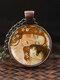 Adjustable Mountain Sea Fish Men Women Necklace Printed Glass Pendant Necklace - #05