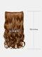 6 цветов длинные вьющиеся Волосы удлинители с пятью зажимами высокотемпературное волокно Парик шт. - #04