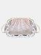महिला जंजीरों तेंदुए पैटर्न प्रिंट हैंडबैग कंधे बैग - गुलाबी